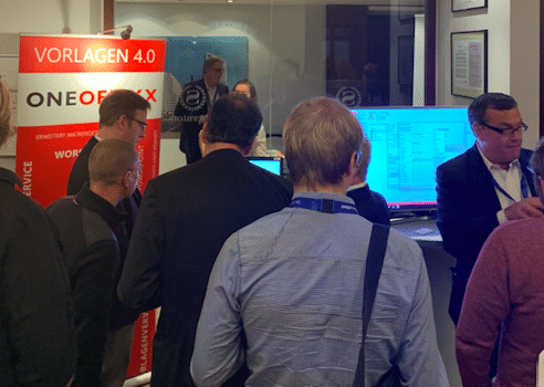 Potential end customers showed great interest in the efficient OneOffixx template management system.