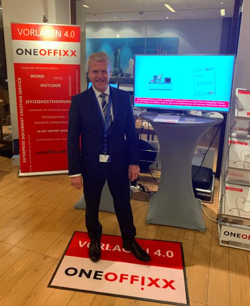 Der Besucheransturm auf der DocuWare User Conference 2018 zeigt das rege Interesse am OneOffixx Vorlagensystem.