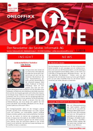 In der aktuellen Ausgabe des OneOffixx Newsletter Update 1-2019 lesen Sie über die Verbesserungen, welche das OneOffixx 2-2019 Release für Sie bereit hält.