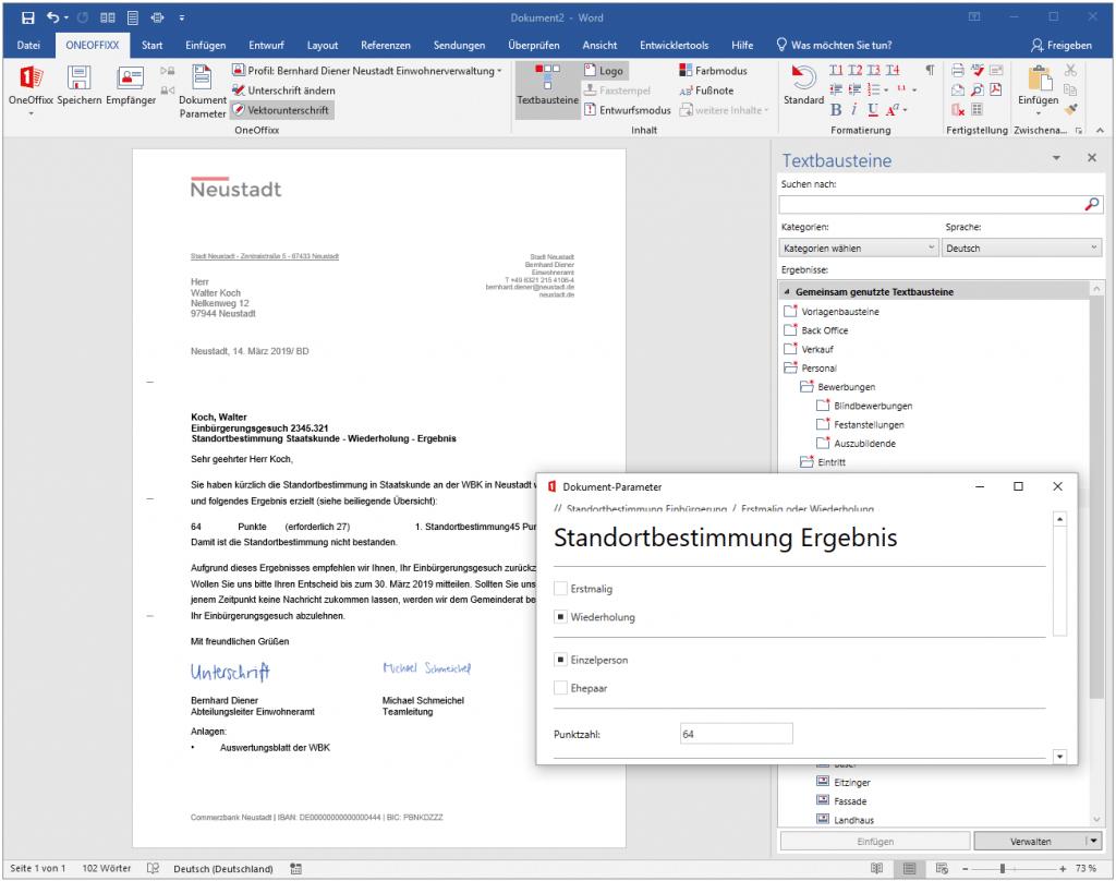 Textbausteine für Word und Outlook von OneOffixx