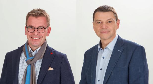 Robert Schreyer und Jürg Geiser fungieren als Co-Geschäftsführer von Sevitec Informatik AG und dem Schweizer OneOffixx-Team.